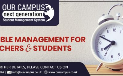 Timetable Management For Teachers & Students | Our Campus Software